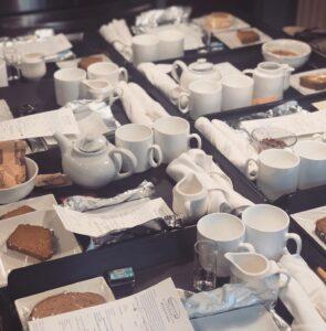 Breakfast trays at Harbor Light Inn