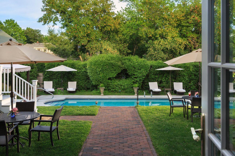 Backyard pool at Harbor Light Inn