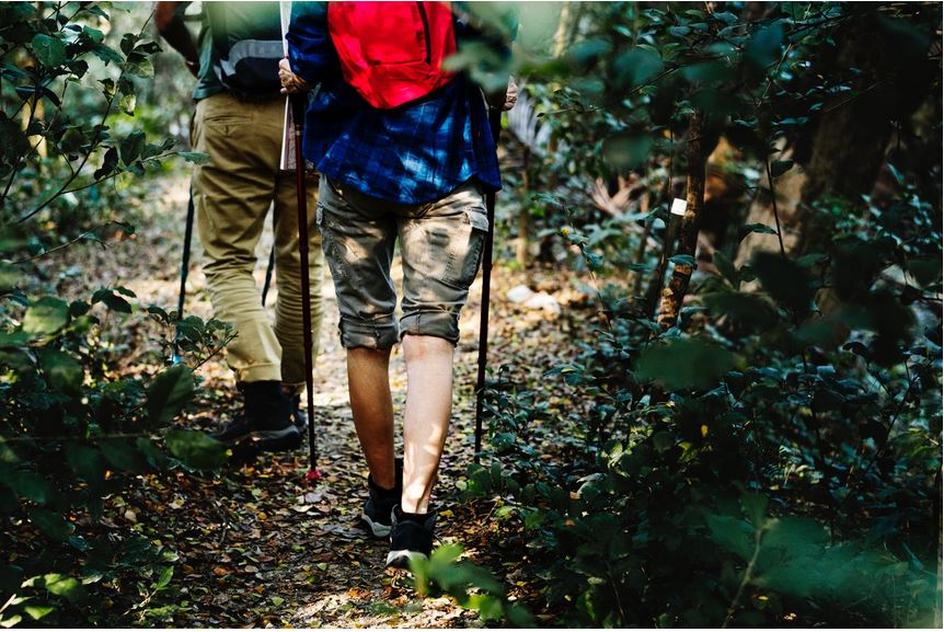 Hiking - a favorite activity of DINE inn guests