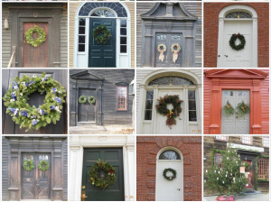 The doors of Historic Deerfield, MA