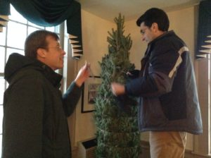 Holiday trees at Rabbit Hill Inn