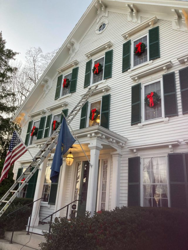 Camden Maine Stay - hang wreaths
