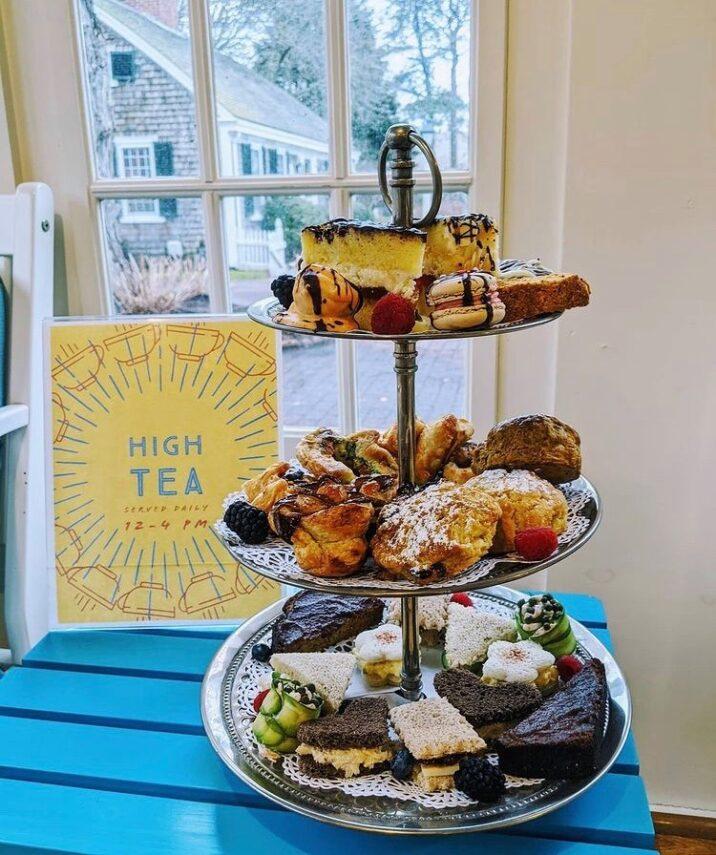 high tea at Captain's House Inn