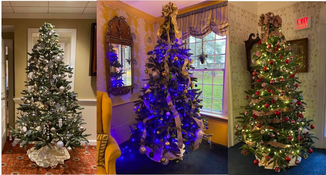 collage of trees at Deerfield Inn