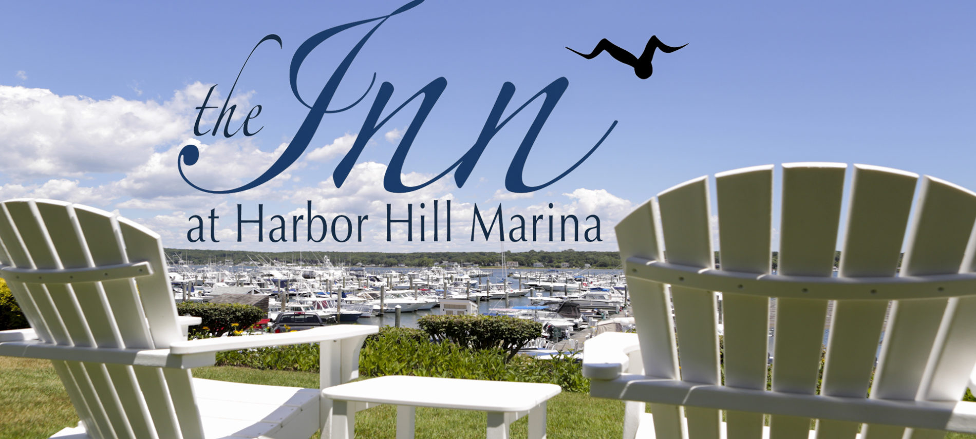 Overlooking Harbor Hill Marina on the Connectocut shoreline