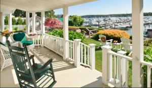 Porch at Inn at Harbor Hill Marina,Niantic, CT