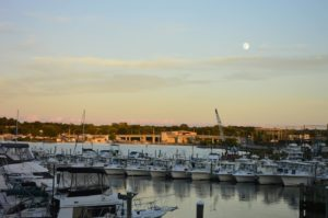 Moonrise over Niantic Bay