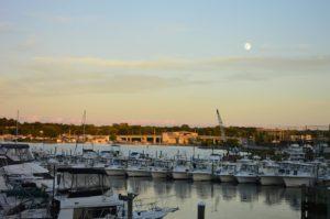 Moonrise over Niantic Bay