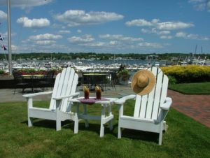 sun chairs at Inn at Harbor Hill Marina