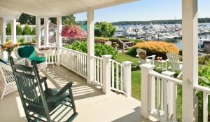 Porch at Inn at Harbor Hill Marina, a Niantic, CT B&B