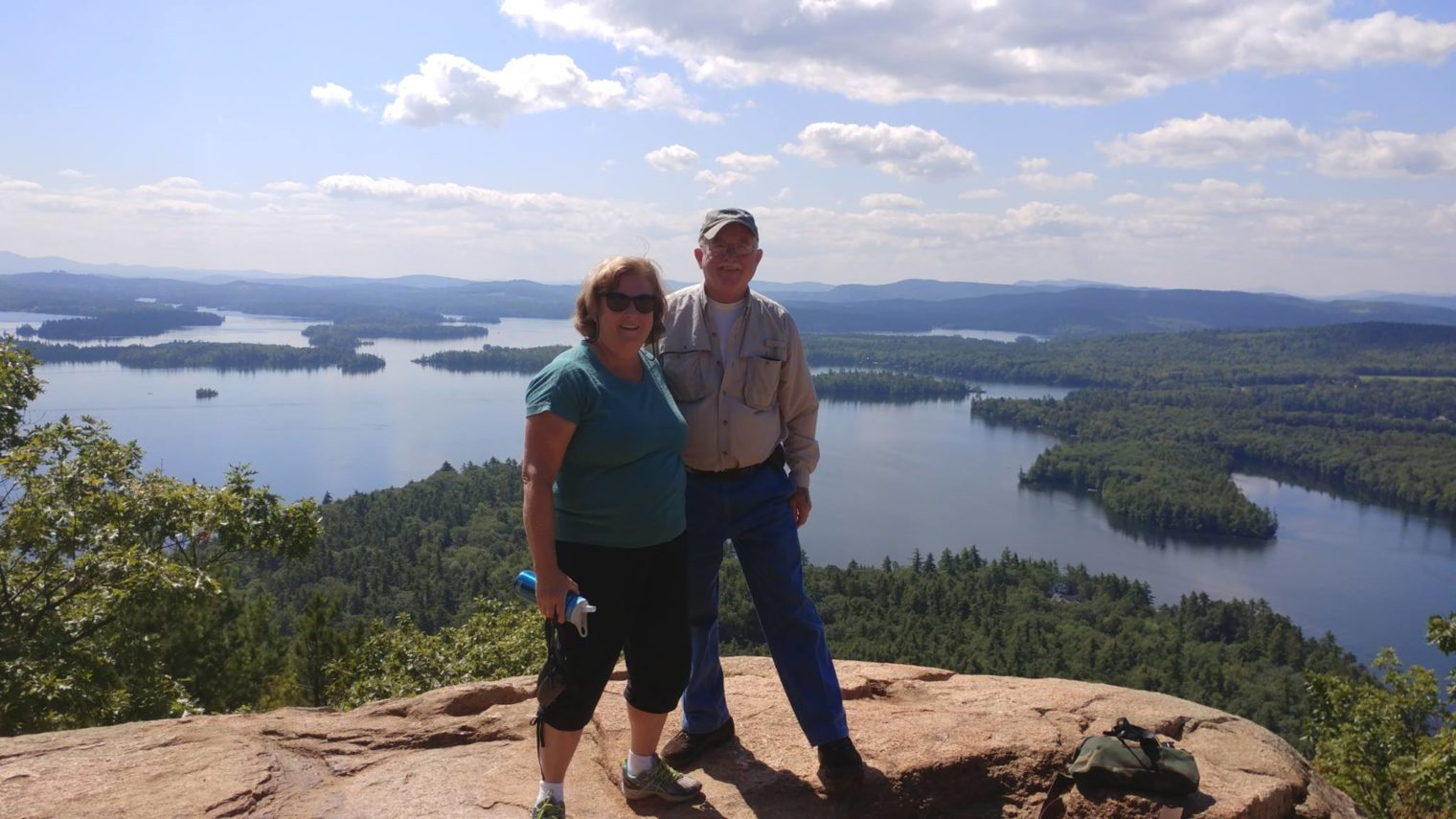 Mary Ellen Shields and Gary Moore on Rattlesnake Mountain