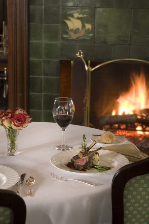 Fireside dining at Manor on Golden Pond