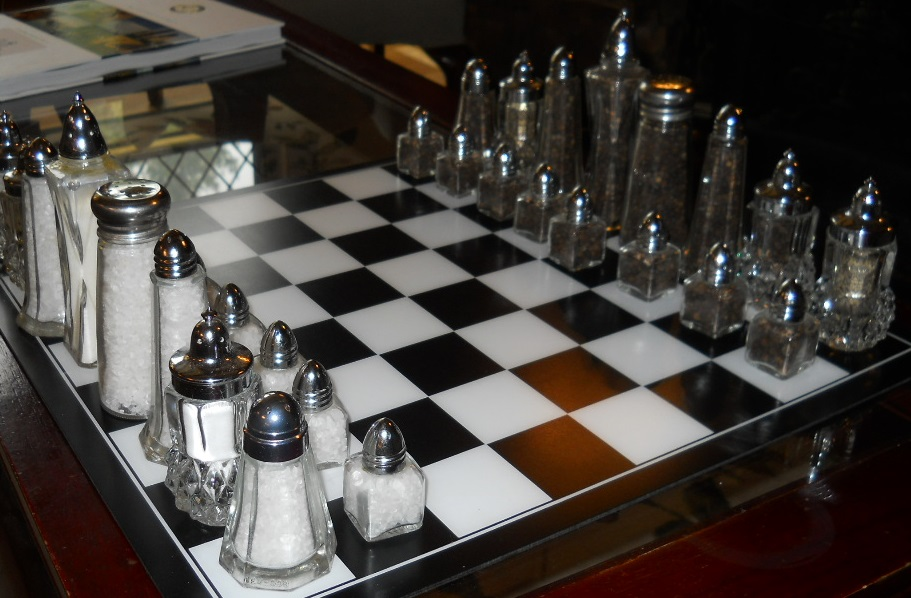 Chess table at Manor on Golden Pond