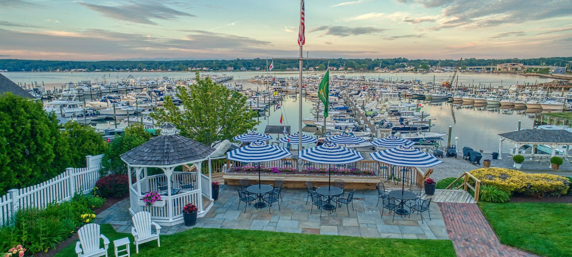 Aerial view of Marina at Inn at Harbor Hill Marina