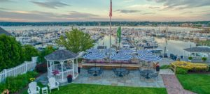 Aerial view of Marina at Inn at Harbor Hill Marina