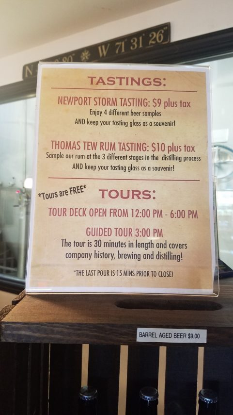 Newport Storm Brewing Tasting sign, Nw