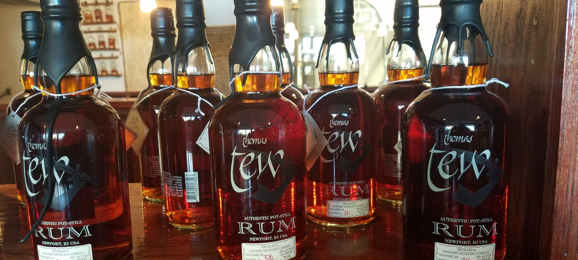 Thomas Tew Rum, distilled in Newport, RI