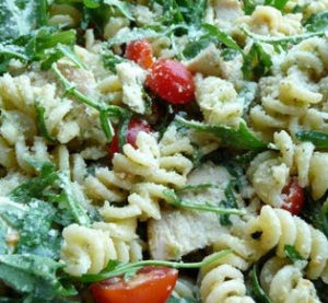 Pesto Pasta Salad with Arugula from Camden Maine Stay Inn