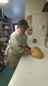 Phyllis making bread at Rabbit Hill Inn