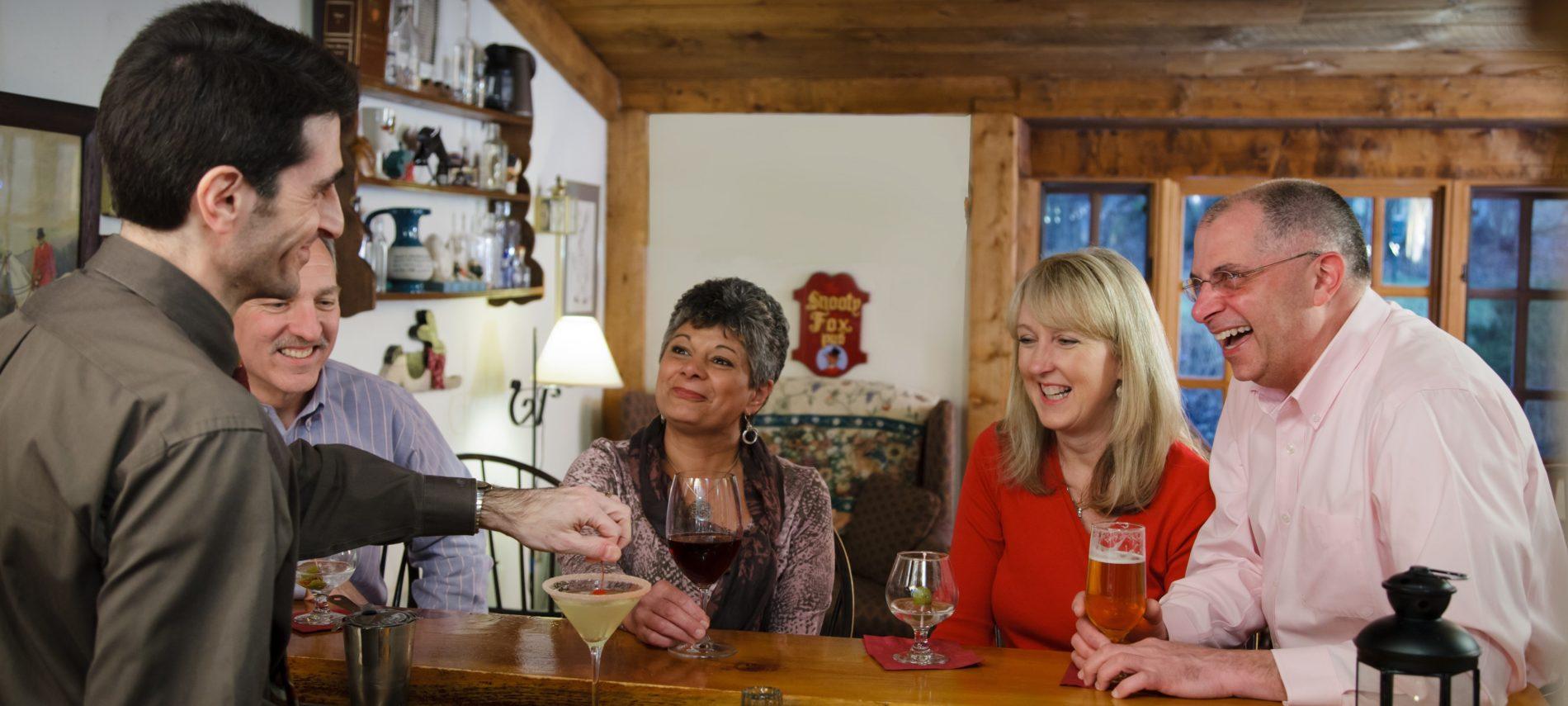 Guests at Snooty Fox Pub, Rabbit Hill Inn
