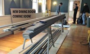 Dining room rennovations at Rabbit Hill Inn