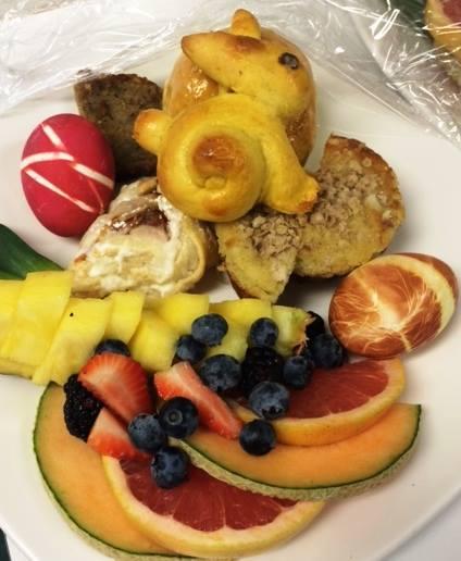 breakfast plate at Rabbit Hill Inn