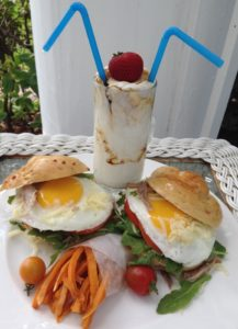 Award winning Egg Sandwhich with sweet potato fries from Rabbit Hill Inn