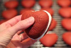 Red Velvet whoopie pies from Deerfield Inn