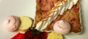 Rhubarb Custard dessert from Rabbit Hill Inn