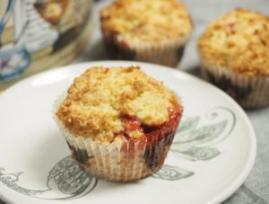 Rhubarb Strusel muffins from Captain's House Inn