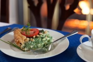 Beautiful photo of Spinach Pie from Harbor Light Inn