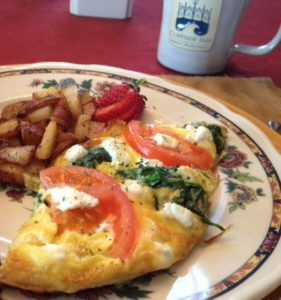 Spinach and Tomato Frittata from Cliffside Inn