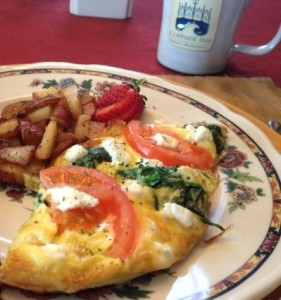 Spinach Tomato Frittata from Cliffside Inn