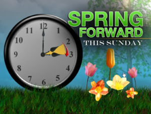Reminder to move clocks forward for Daylight Savings Time