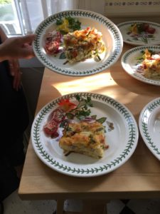 Ham, Asparagus and Cheddar Strata from Captain Jefferds Inn