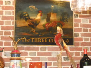 Three Cocks Pub sign