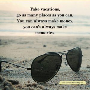 Take time for vacations