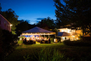 Tented wedding reception at Deerfield Inn