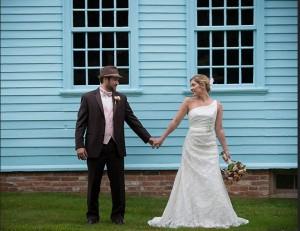 Bride and groom at Deerfield Inn