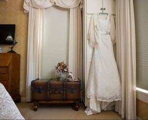 Wedding dress at Deerfield Inn