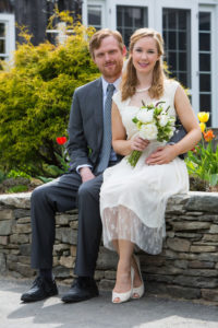 bridal couple at Grafton Inn