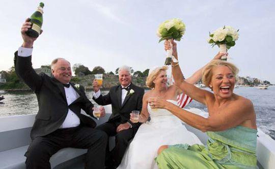 Wedding fun on the water in Marblehead, MA