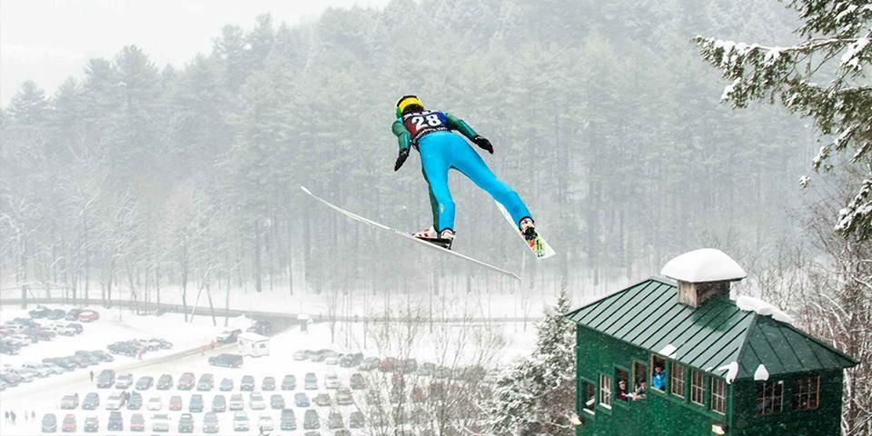 Ski Jumper at Harris Hill Ski Jump