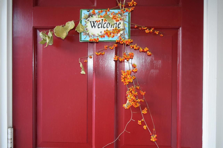 Deerfield Inn fall decorations.