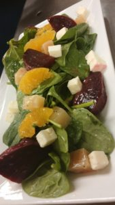 Beet and spinach salad from Deerfield Inn