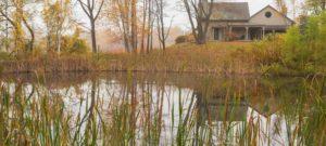 Chesterfield inn from opposite side of pond