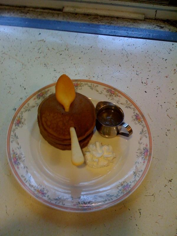 Ginger Pancakes with Lemon Sauce from Captain's House Inn