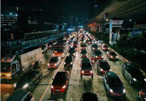 Photo showing city traffic